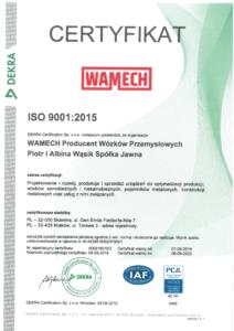 wamec certyfikat iso 9001